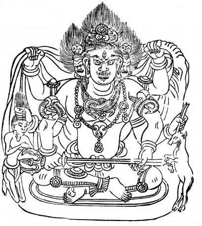 『大正新脩大蔵経 図像』第一巻「大悲胎蔵大曼荼羅」より